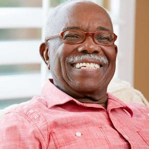 Happy Black Man at Assisted Living Home