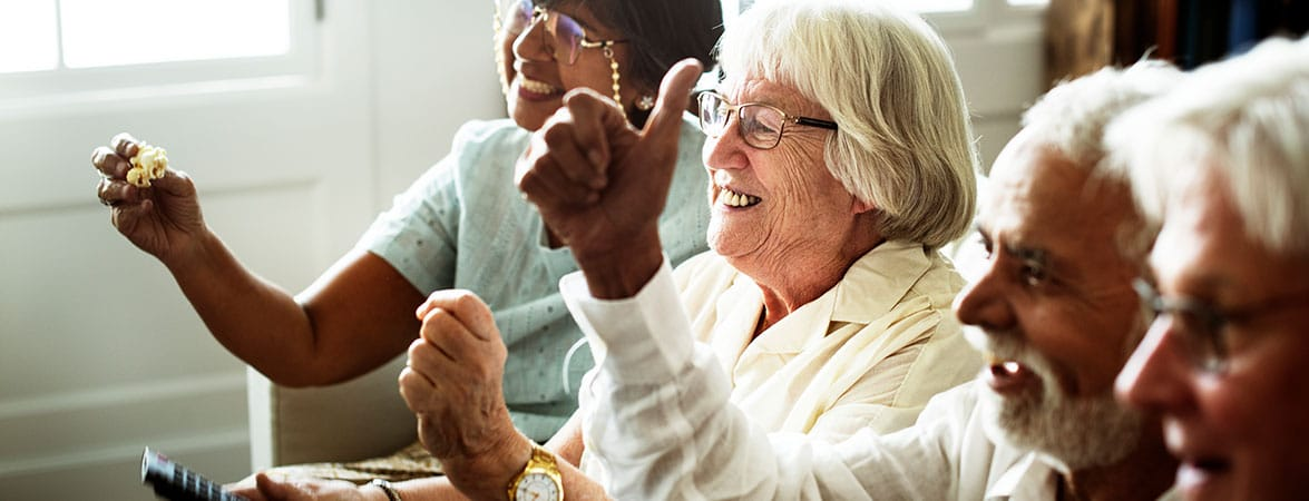 Diverse Elders Having Fun at Assisted Living Home