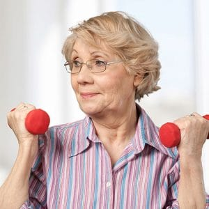 Elder Exercising at Assisted Living Facility