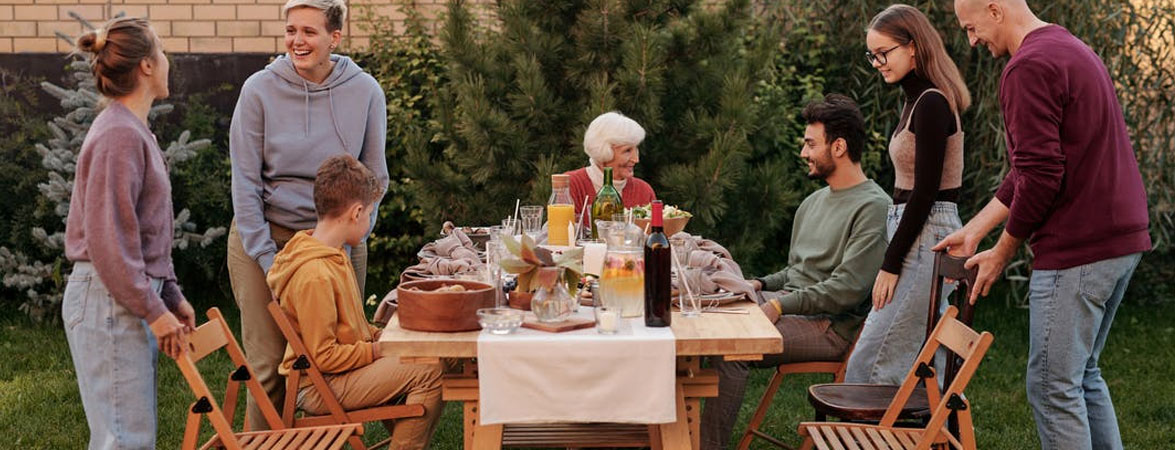 Family Sitting Together to Talk With Parent About Retirement Living