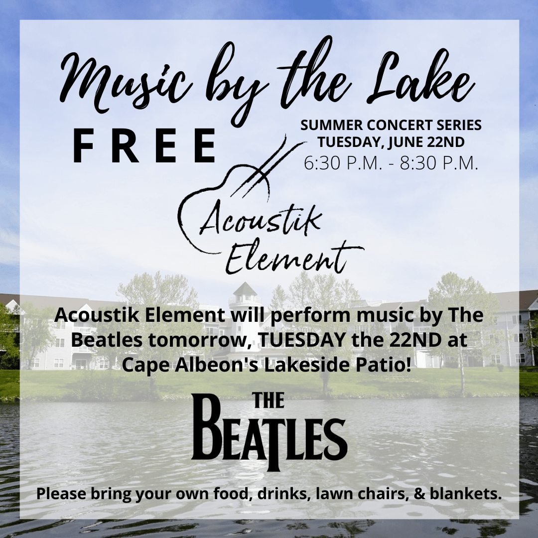 Cape Albeon hosts Music by the Lake - The Beatles in St. Louis