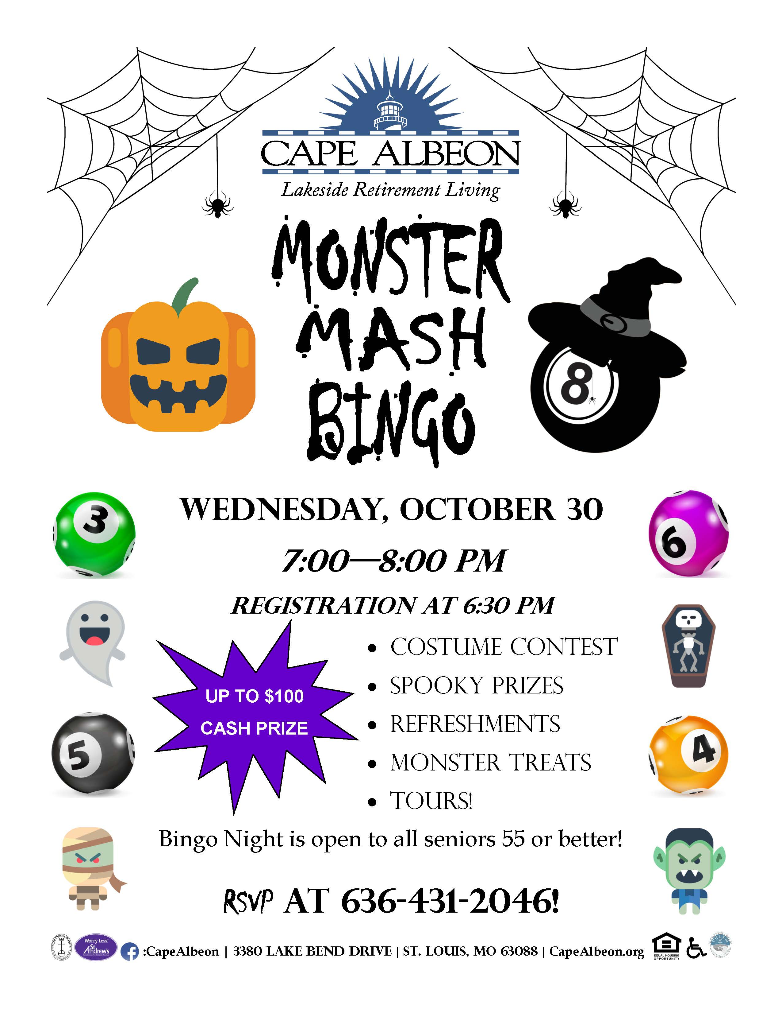 Cape Albeon hosts Monster Mash Bingo