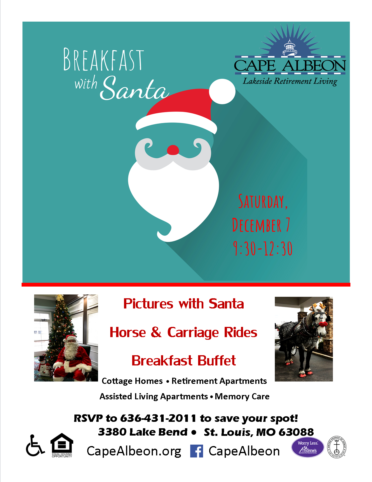 Cape Albeon hosts Breakfast with Santa St. Louis
