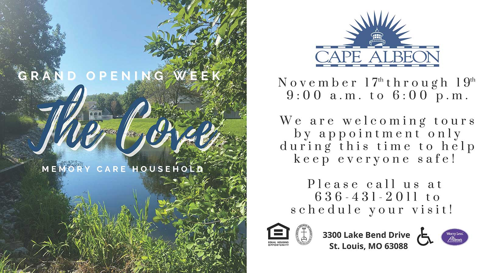 Cape Albeon hosts Grand Opening Week - The Cove Memory Care Household St. Louis
