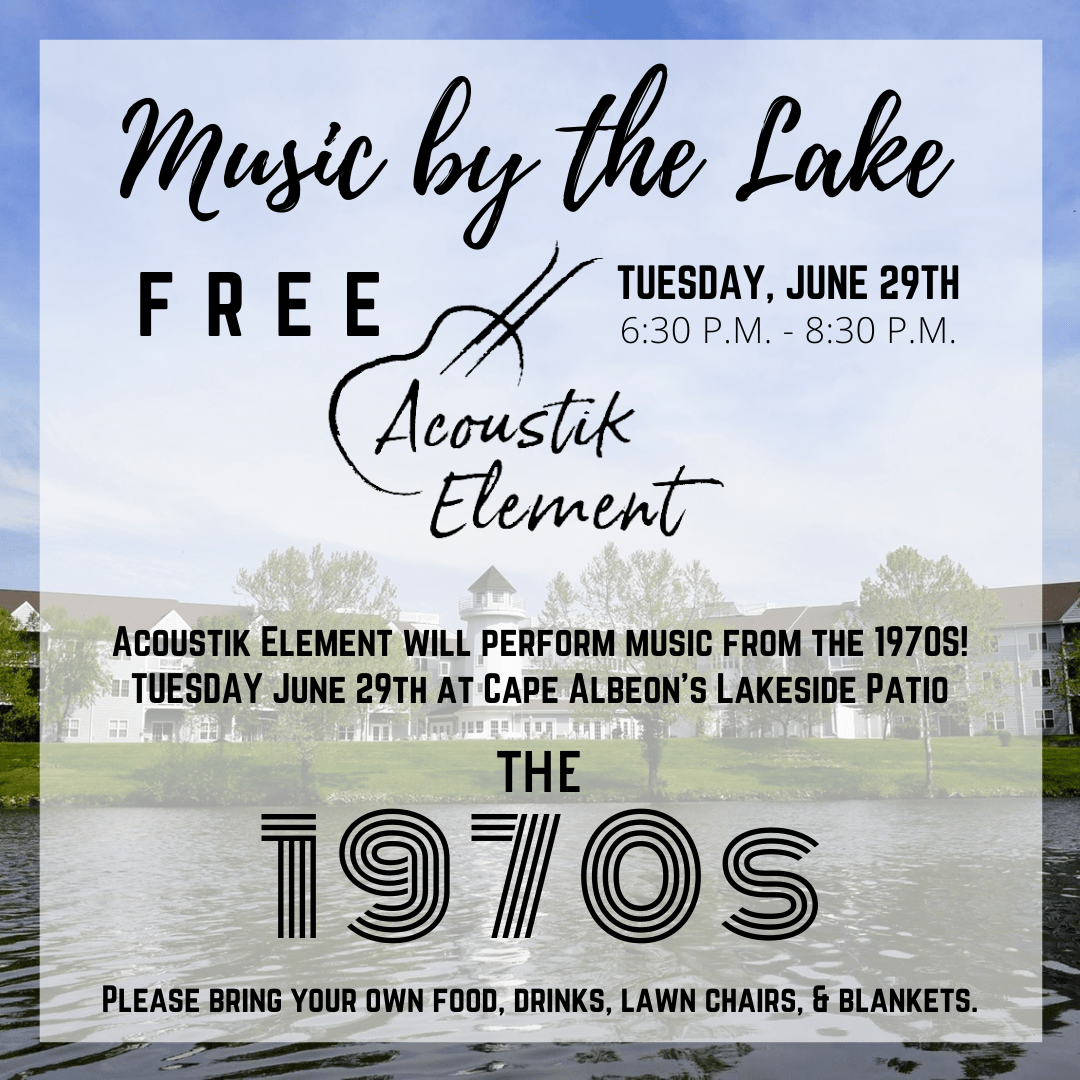 Cape Albeon Hosts Music by the Lake - 1970s in St. Louis