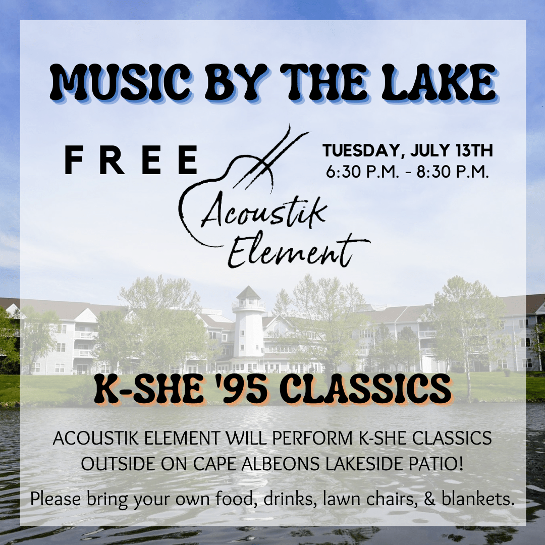 Cape Albeon Hosts Music by the Lake - K-SHE '95 Classics in St. Louis