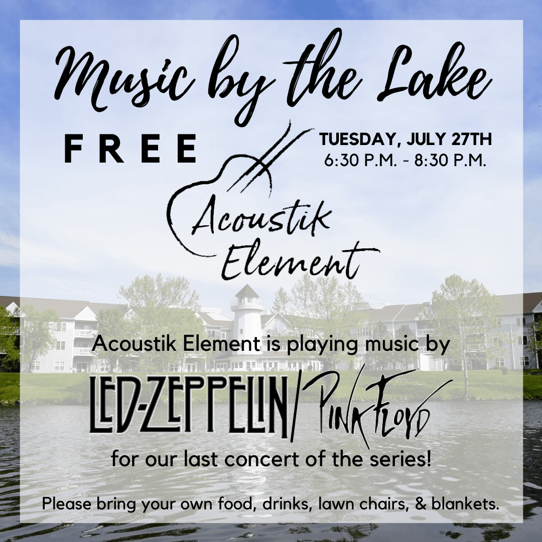 Cape Albeon Hosts Music by the Lake - Led Zeppelin/Pink Floyd in St. Louis